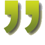 quotation mark image introduces student praise for Kathy's how to use WordPress training